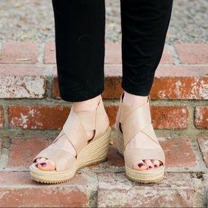 Eileen Fisher Willow Suede Espadrille Sandals 10